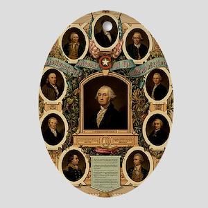 Masonic Heroes Oval Ornament