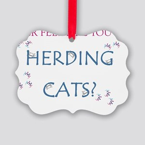 Herding Cats Picture Ornament