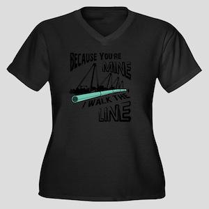 I Walk The L Women's Plus Size Dark V-Neck T-Shirt