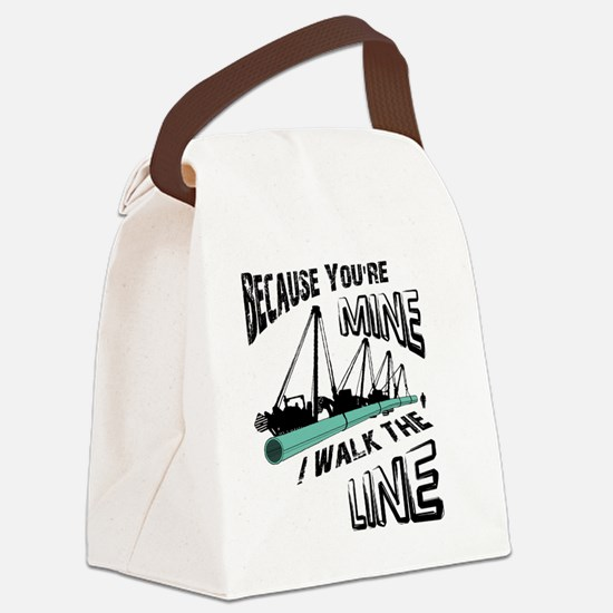 I Walk The Line Canvas Lunch Bag