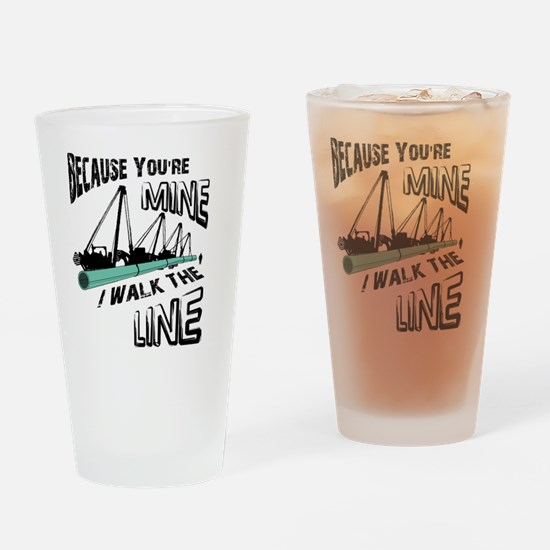 I Walk The Line Drinking Glass