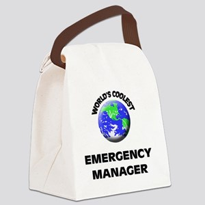 World's Coolest Emergency Manager Canvas Lunch Bag