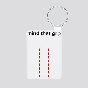 Mind That Gap Aluminum Photo Keychain