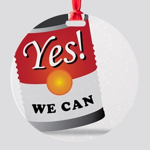 yes we can! Round Ornament