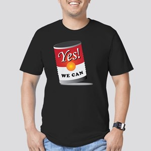 yes we can! Men's Fitted T-Shirt (dark)