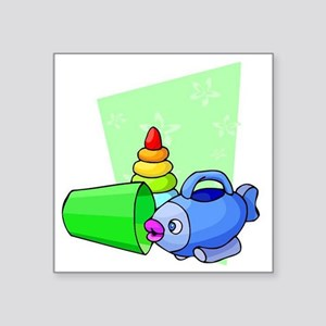 """Baby Toys Square Sticker 3"""" x 3"""""""