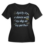 Agility Dance Women's Plus Size Scoop Neck Dark T-