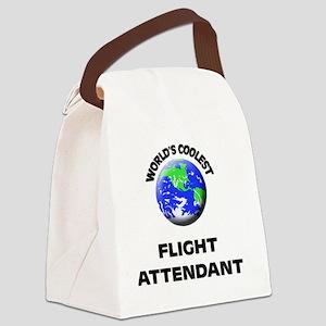 World's Coolest Flight Attendant Canvas Lunch Bag