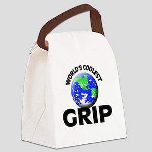 World's Coolest Grip Canvas Lunch Bag