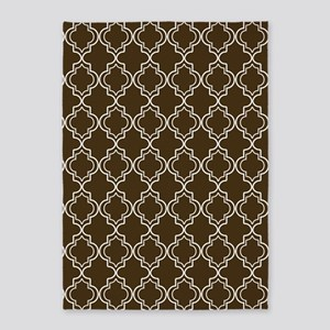 D60x84 Moroccan TnT W Brown 5'x7'Area Rug