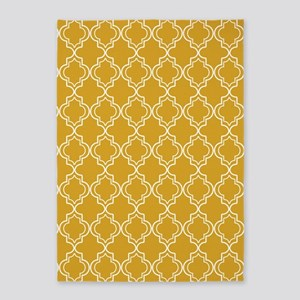D60x84 Moroccan TnT W Gold 5'x7'Area Rug