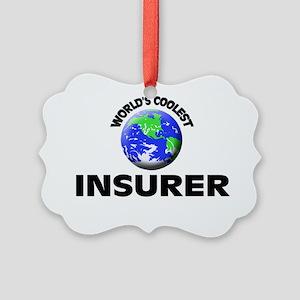 World's Coolest Insurer Picture Ornament