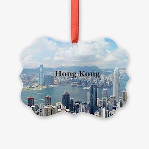 HongKong_5x3rect_sticker_HongKong Picture Ornament