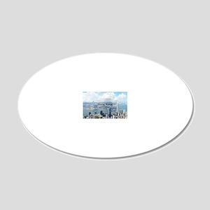 HongKong_5x3rect_sticker_Hon 20x12 Oval Wall Decal