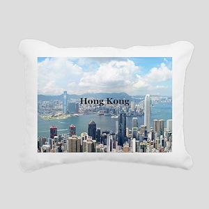 HongKong_5x3rect_sticker Rectangular Canvas Pillow