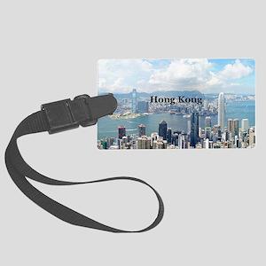 HongKong_5x3rect_sticker_HongKon Large Luggage Tag