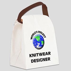 World's Coolest Knitwear Designer Canvas Lunch Bag