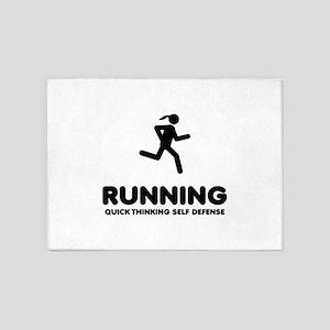 Running 5'x7'Area Rug