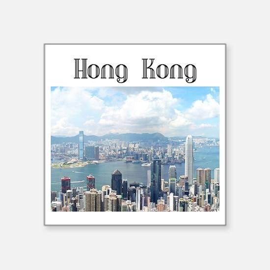 """HongKong_19x19_HongKongFrom Square Sticker 3"""" x 3"""""""