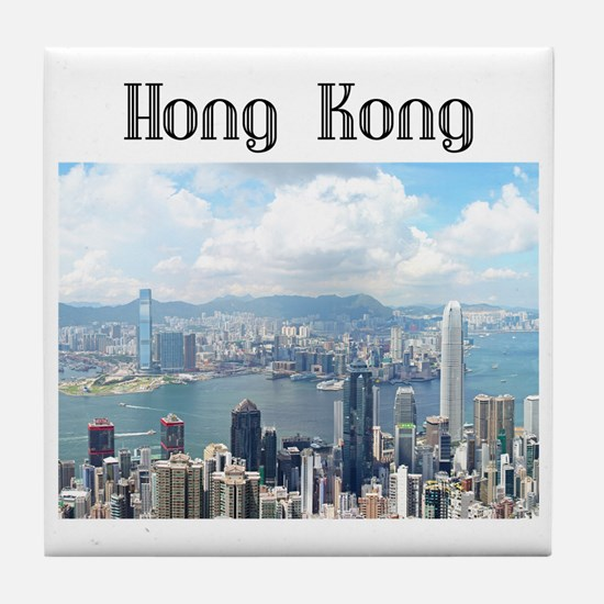 HongKong_19x19_HongKongFromVictoriaPe Tile Coaster
