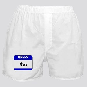 hello my name is nia  Boxer Shorts