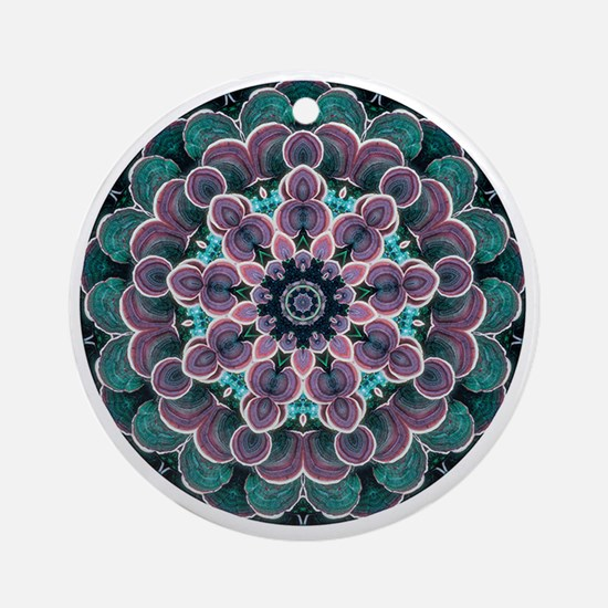 Mushroom Mandala Round Ornament