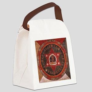 Tibetan Mandala Canvas Lunch Bag