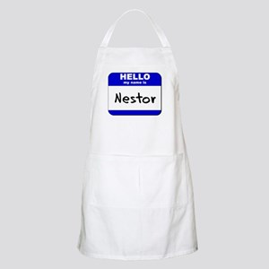 hello my name is nestor  BBQ Apron