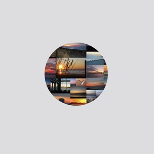 Sunrise/Sunset collage Mini Button
