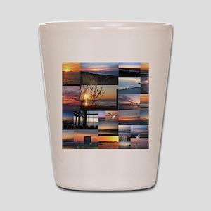 Sunrise/Sunset collage Shot Glass