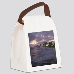 Sunset in Atlantic City Canvas Lunch Bag