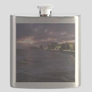 Sunset in Atlantic City Flask