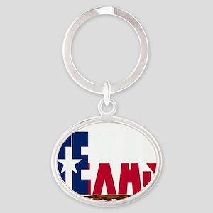 Republic of Texas Oval Keychain