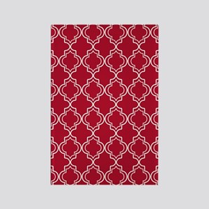 Moroccan TnT 3x5 W Dk Berry Red Rectangle Magnet