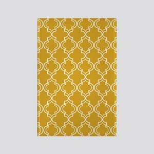 Moroccan TnT 3x5 W Gold Rectangle Magnet