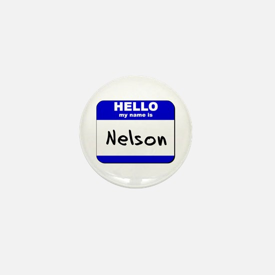 hello my name is nelson Mini Button