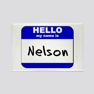 hello my name is nelson Rectangle Magnet