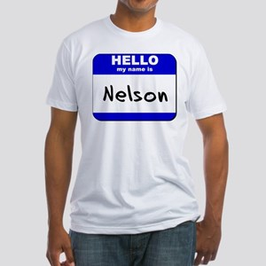 hello my name is nelson Fitted T-Shirt