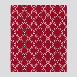 Moroccan TnT 5x7 W Dk Berry Red Throw Blanket