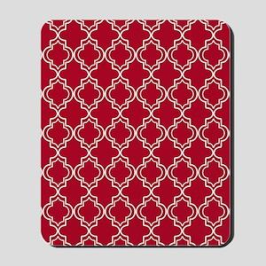 Moroccan TnT 5x7 W Dk Berry Red Mousepad
