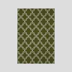 Moroccan TnT 5x7 W Dk Olive Rectangle Magnet