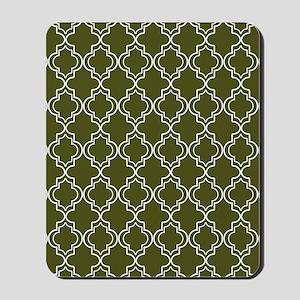 Moroccan TnT 5x7 W Dk Olive Mousepad