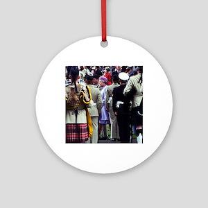 Queen Elizabeth of England reviews  Round Ornament