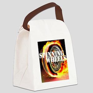 Spinning Wheels Logo Canvas Lunch Bag