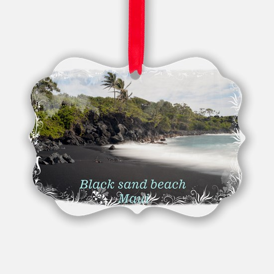 Black sand beach Ornament