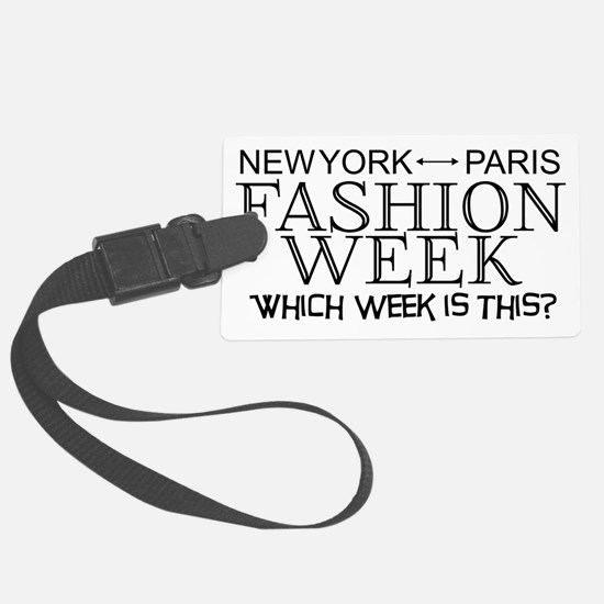 Fashion Week, New York or Paris? Large Luggage Tag