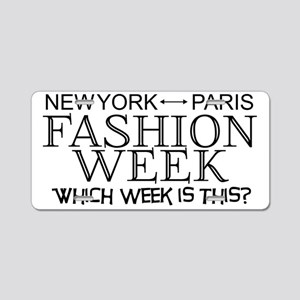 Fashion Week, New York or P Aluminum License Plate