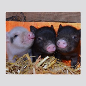 THREE LITTLE PIGS Throw Blanket