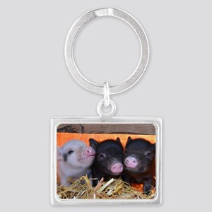 THREE LITTLE PIGS Landscape Keychain