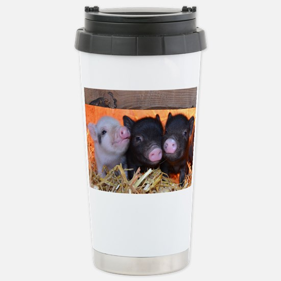 Three Little Piggies Stainless Steel Travel Mug